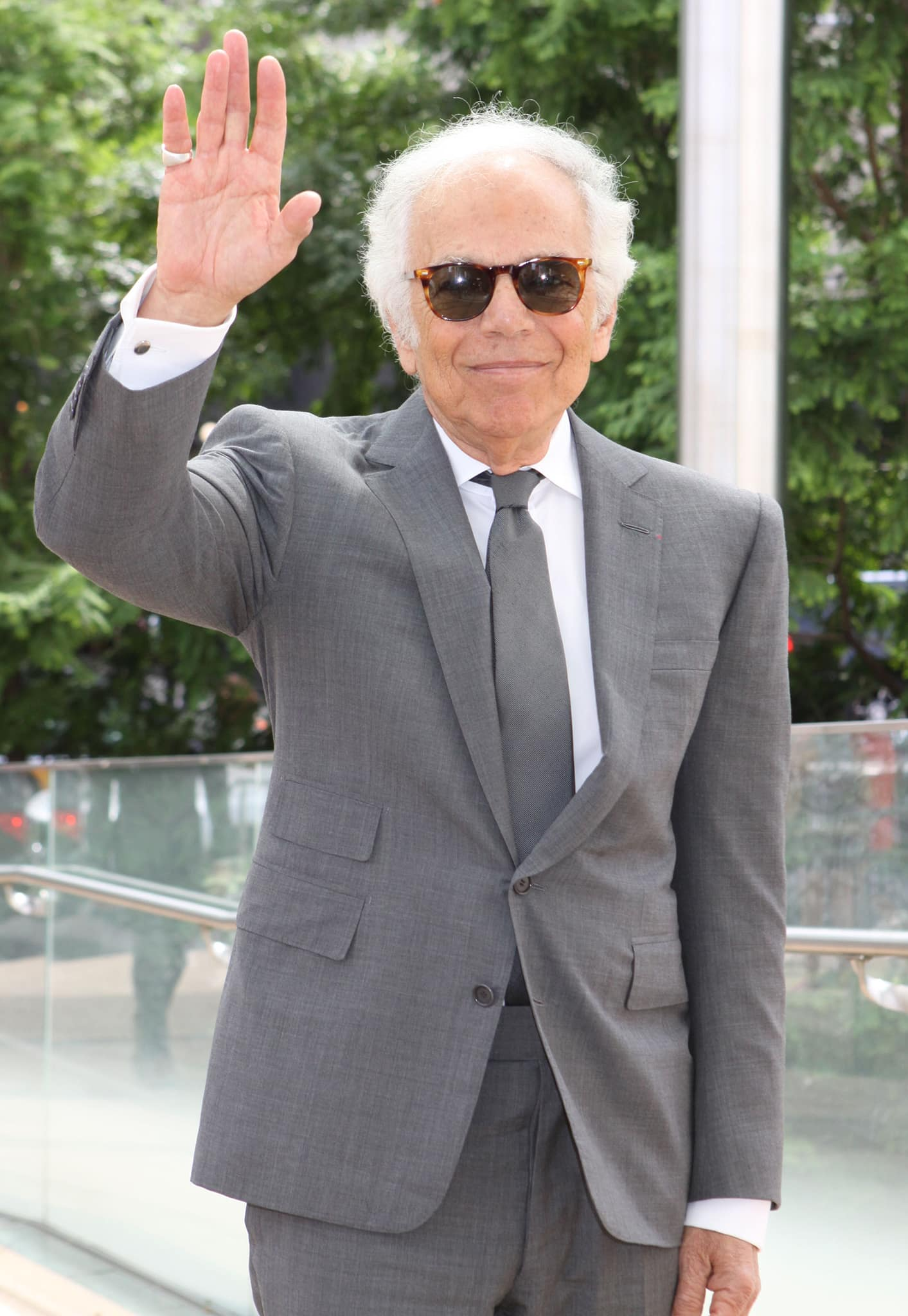 Ralph Lauren pictured at the New York Fashion Week lunch in honor of Carolina Herrera on September 3, 2014