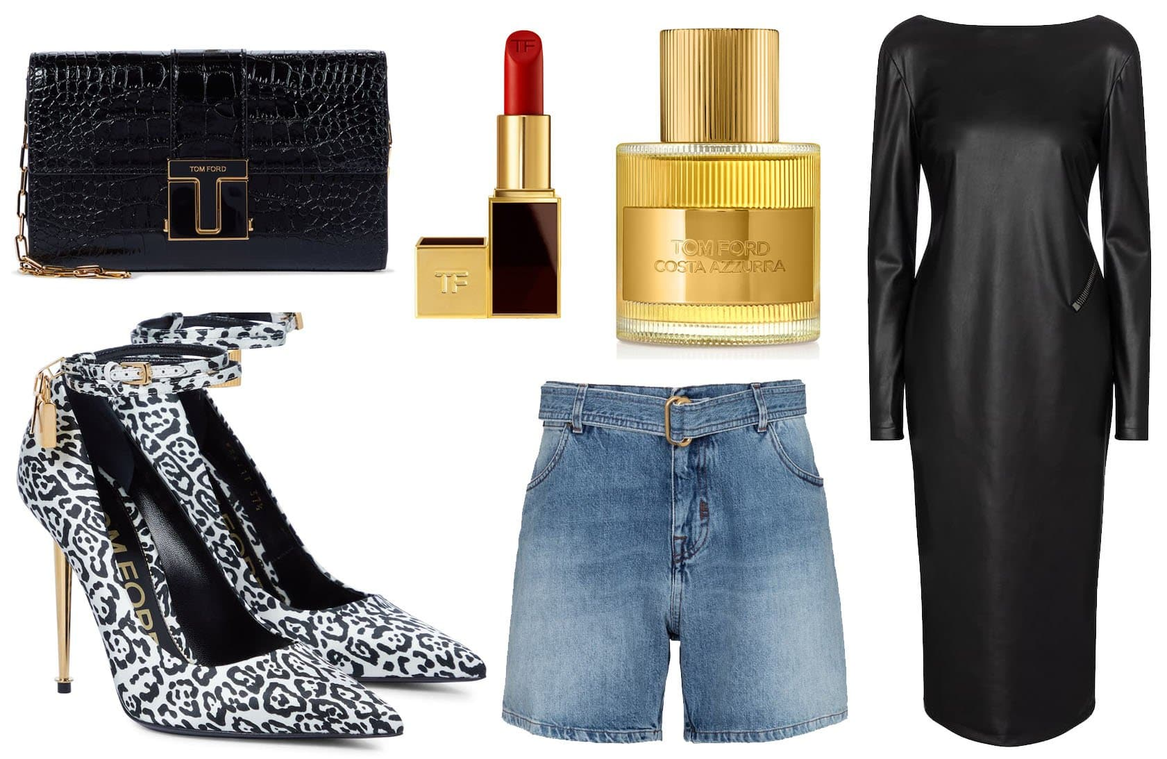 Tom Ford has everything from clothes, shoes, and accessories to makeups and perfumes