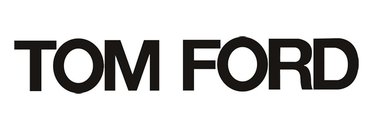 American Fashion designer Tom Ford's minimalist wordmark logo