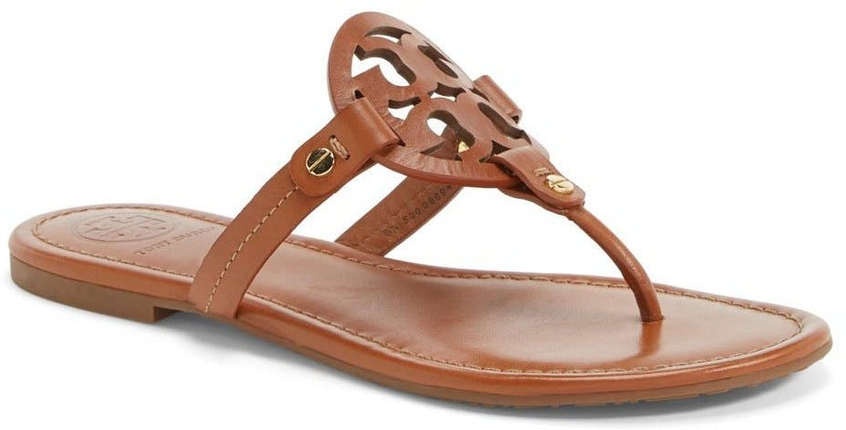 Sophisticated yet comfy, the Miller sandal features a foam-cushioned footbed and a bold logo cutout design