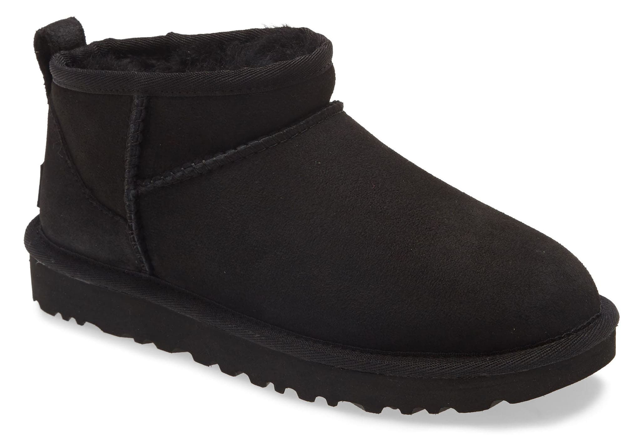 An ultra short shaft adds a twist to the classic UGG boot silhouette