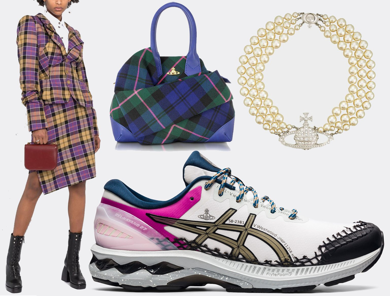 Vivienne Westwood is known for its modern punk and new wave styles and designs