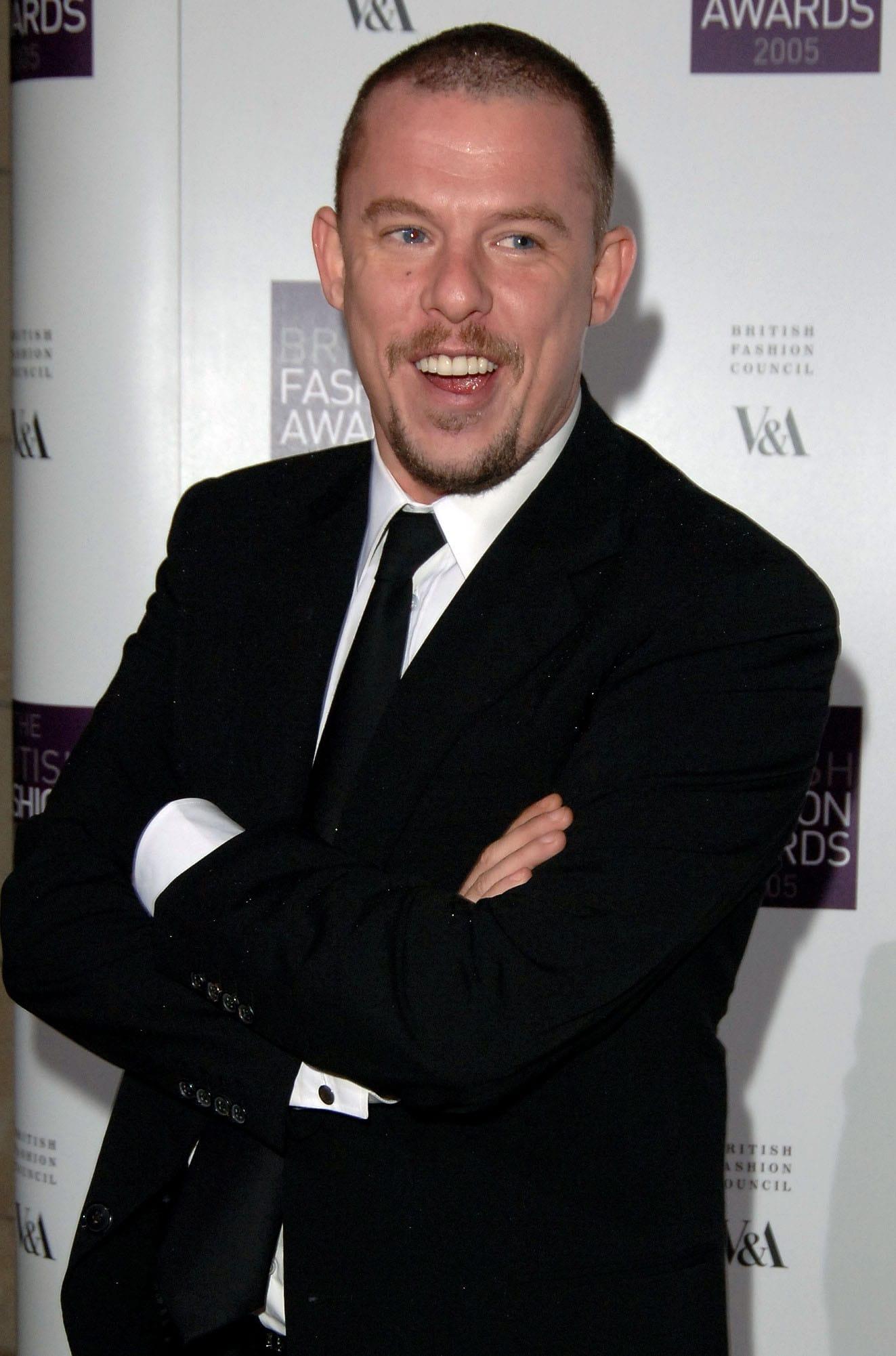 Alexander McQueen at the British Fashion Awards in November 2005