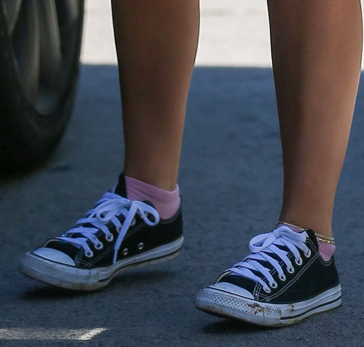 Addison Rae finishes off her Pilates outfit with classic Converse Chuck Taylor shoes