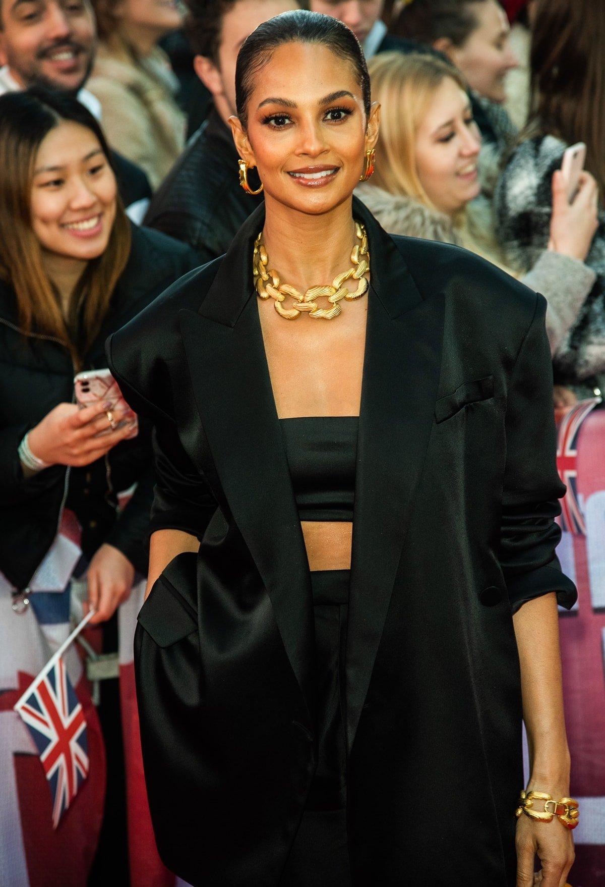 Alesha Dixon attends Britain's Got Talent 2020 photocall at the London Palladium on January 19, 2020, in London, England