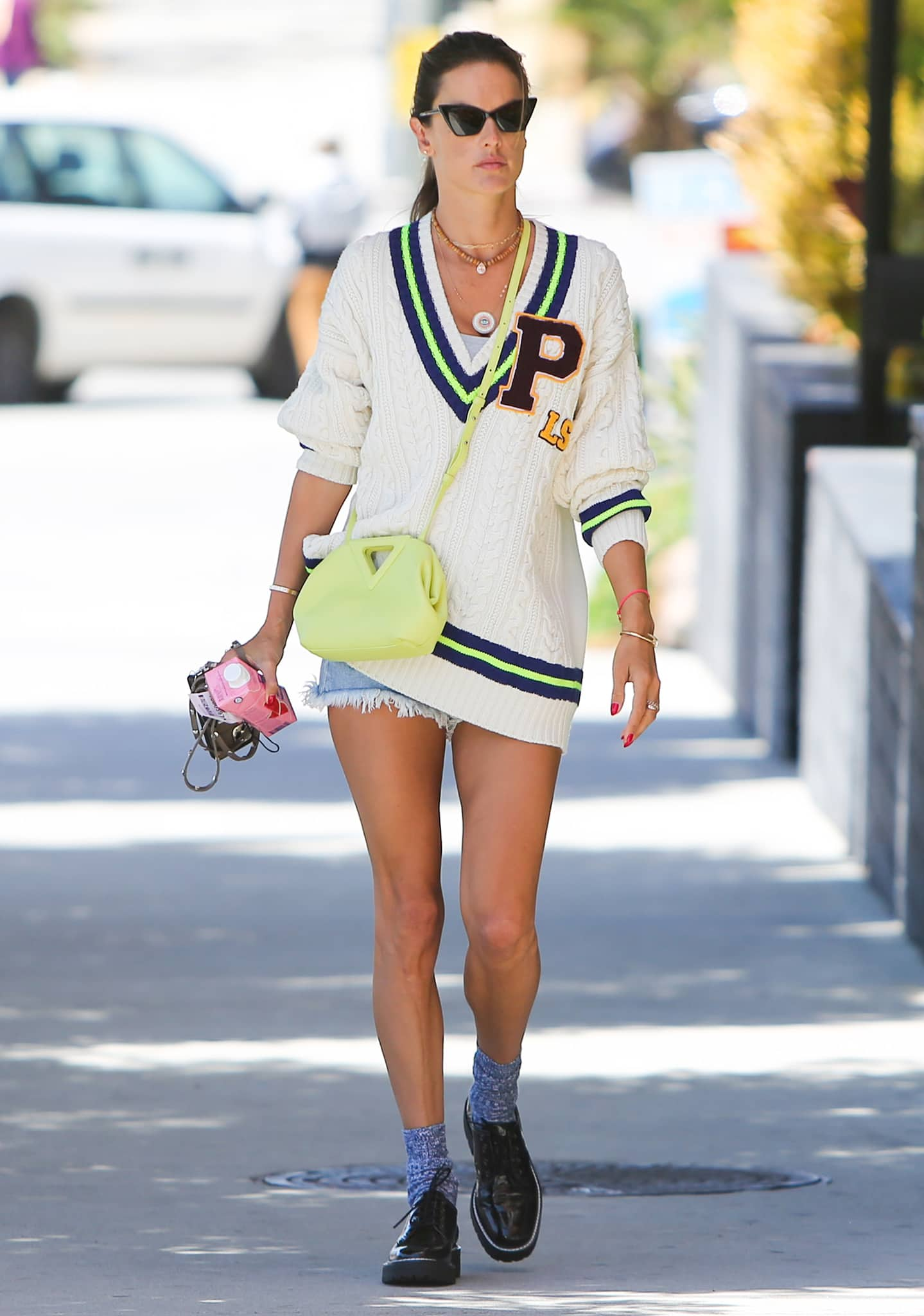 Alessandra Ambrosio puts on a leggy look while out and about in Santa Monica on June 10, 2021