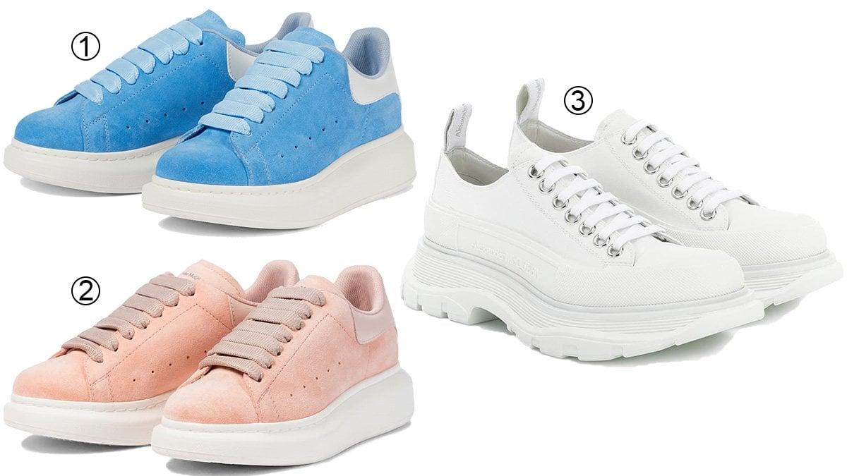 3 best chunky women's Alexander McQueen sneakers
