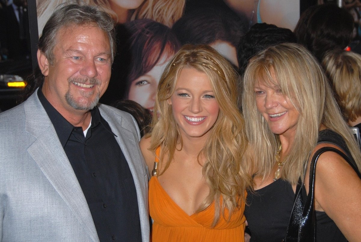 Blake Lively with her parents Ernie Lively and Elaine Lively