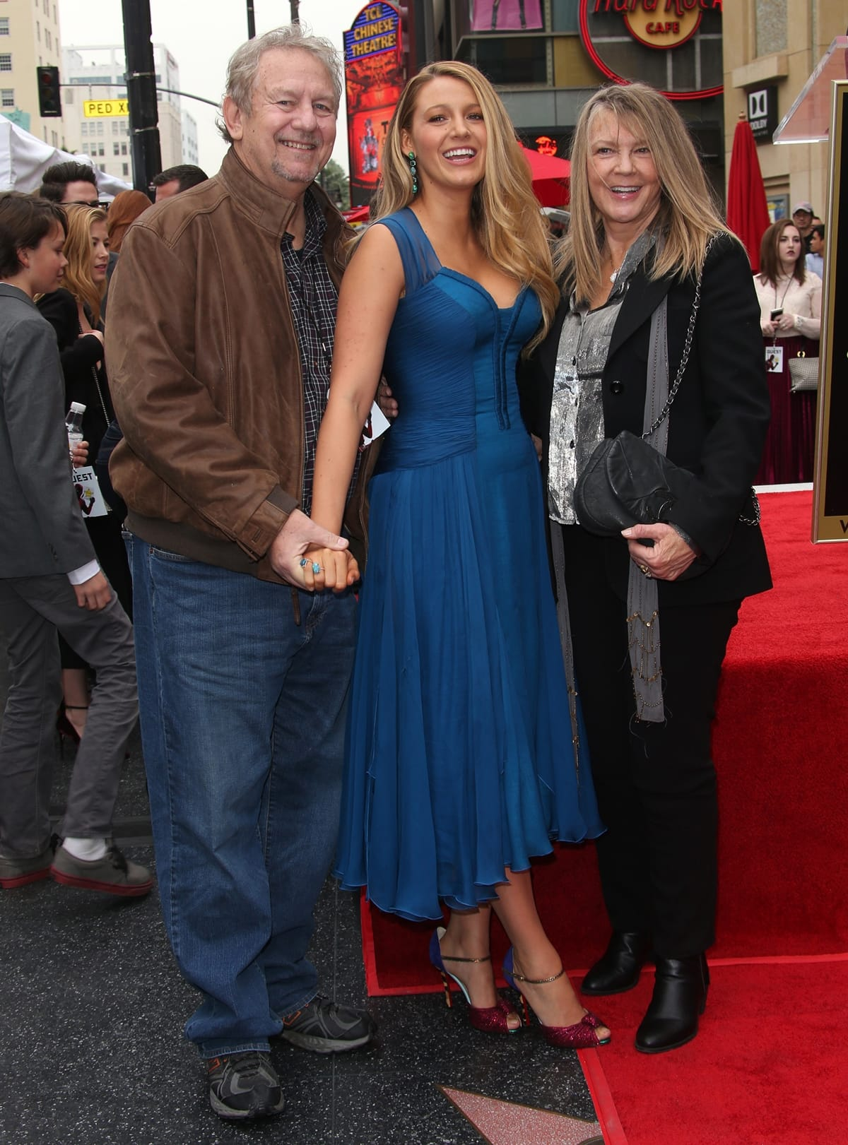 Blake Lively with her mother Elaine (née McAlpin) and her father, Ernie Lively (né Ernest Wilson Brown Jr.)