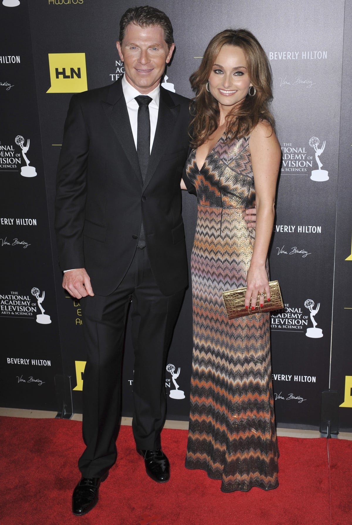 Bobby Flay and Giada De Laurentiis attend the 39th Annual Daytime Emmy Awards