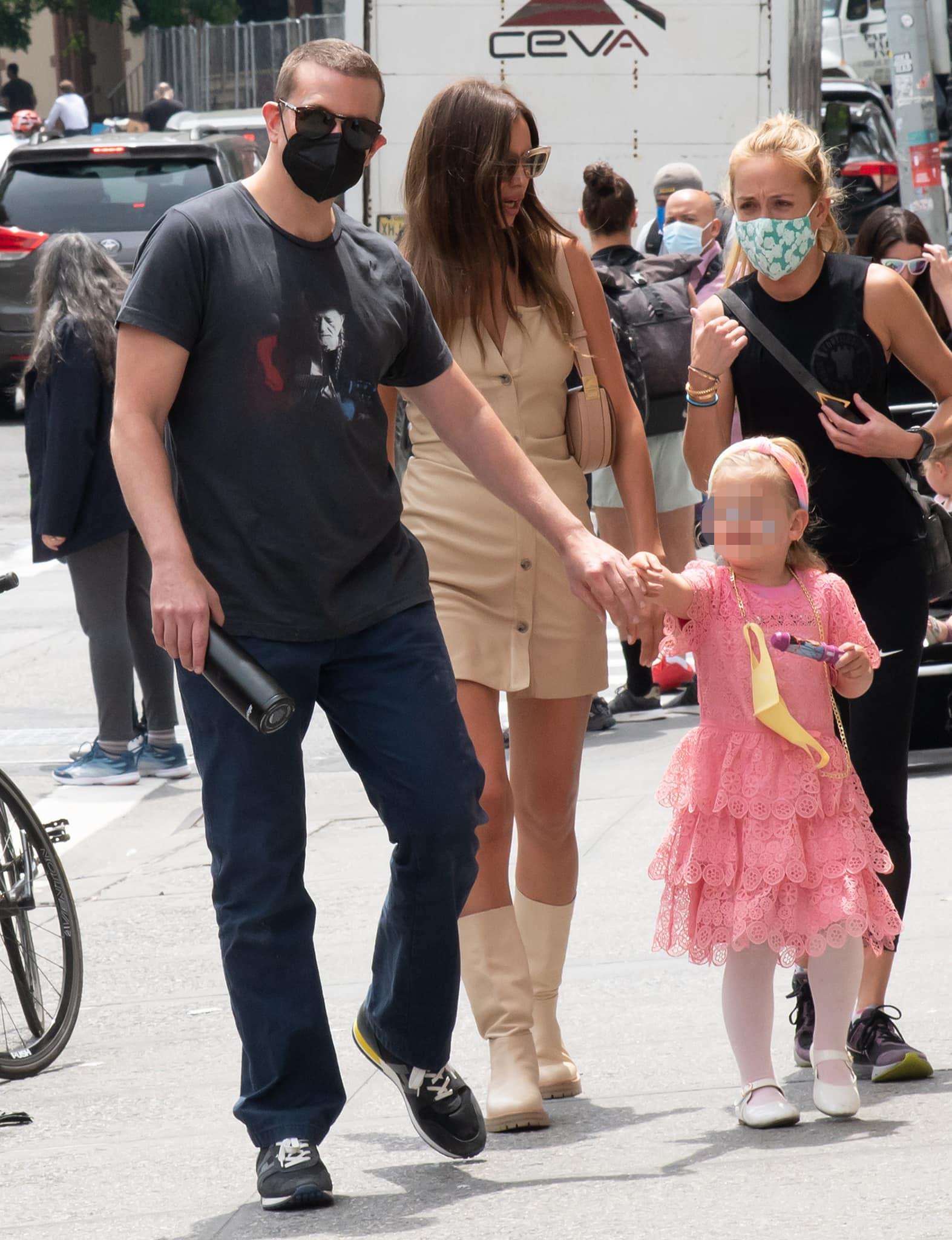 Bradley Cooper joins ex Irina Shayk and daughter Lea de Seine on a stroll in New York City on June 2, 2021