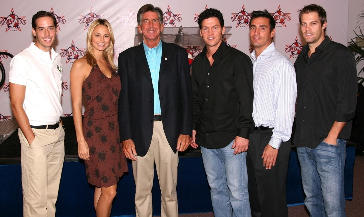 Carter Reum, Stacy Keibler, Kevin McKeown, Brady Anderson, AJ DiScala, and Geoff Stults