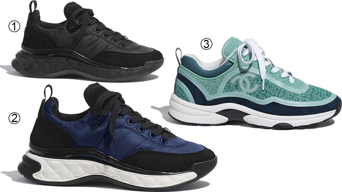 3 best chunky women's Chanel sneakers