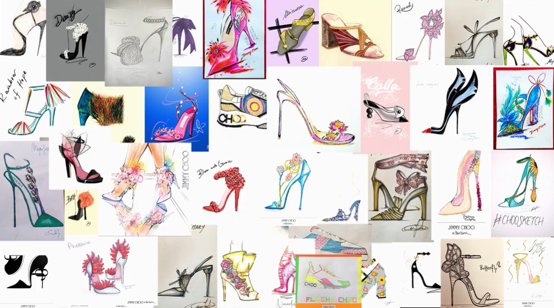 Over ten thousand design ideas were submitted to Jimmy Choo's Choo Sketch competition
