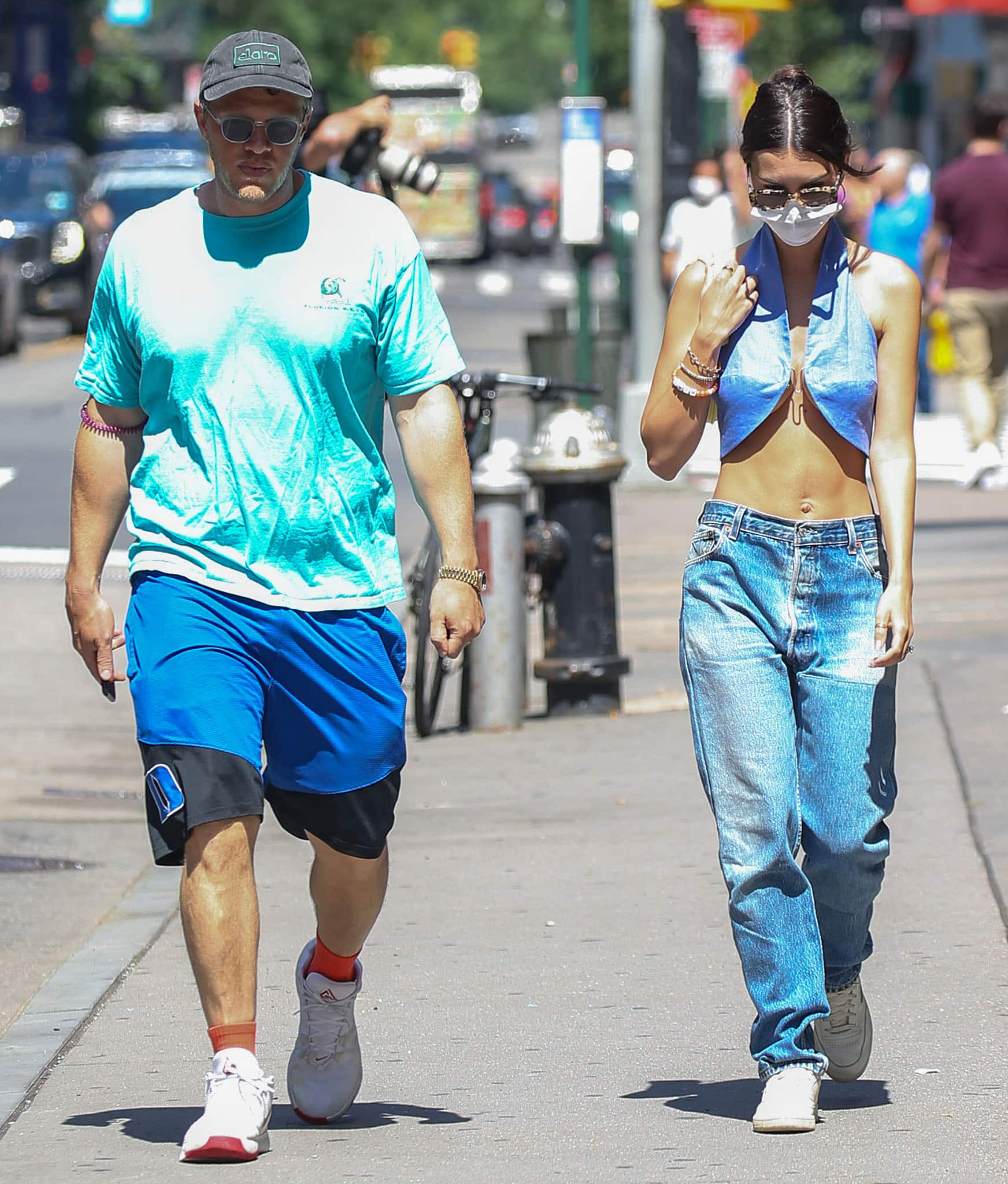 Sebastian Bear-McClard takes a stroll with Emily Ratajkowski in New York City