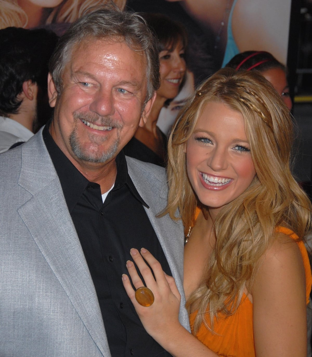 """Ernie Lively and his daughter Blake Lively at the premiere of """"The Sisterhood of the Traveling Pants 2"""""""