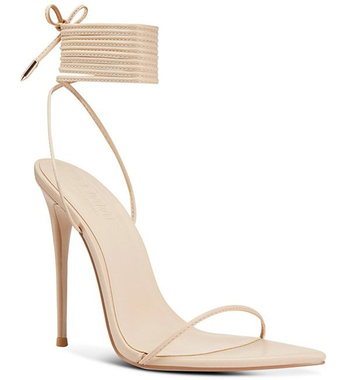 The Femme Luce Minimale has delicate straps that wrap around the ankle