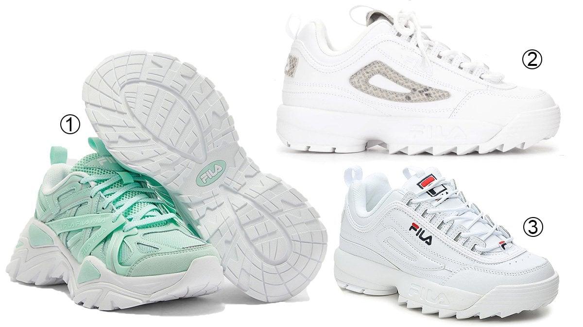 3 best chunky women's Fila sneakers