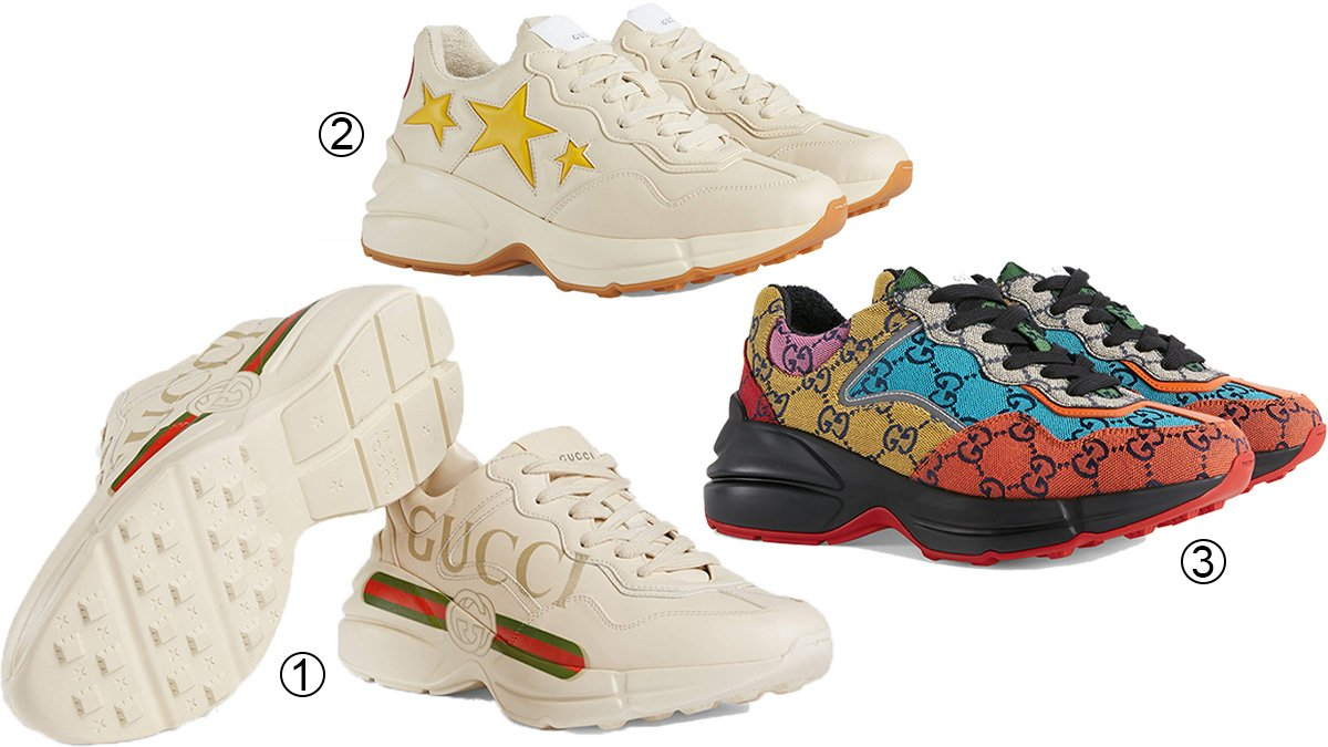 3 best chunky women's Gucci sneakers
