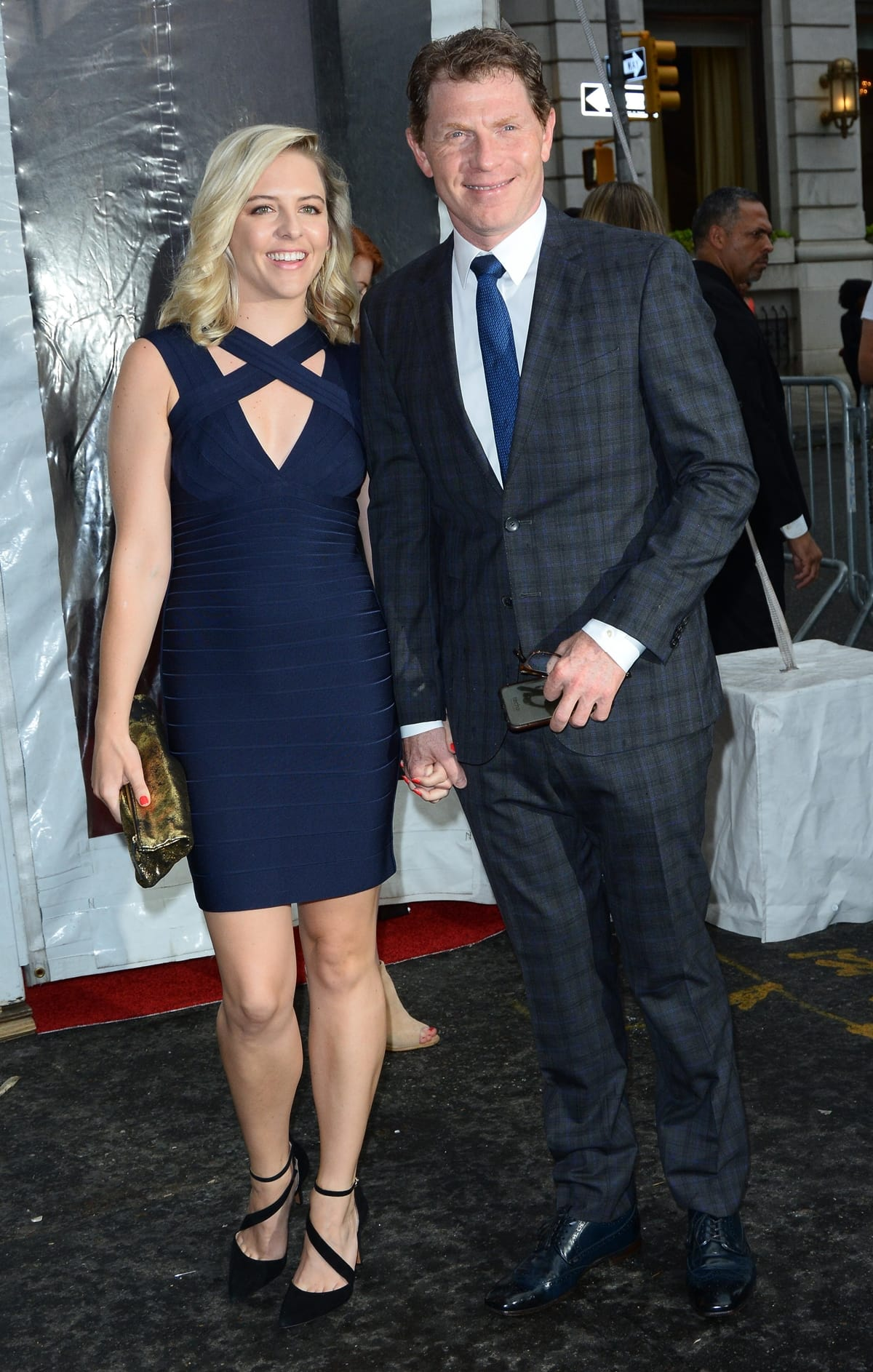 """Bobby Flay and his girlfriend Helene Yorke attend the Cinema Society screening of """"Cafe Society"""""""
