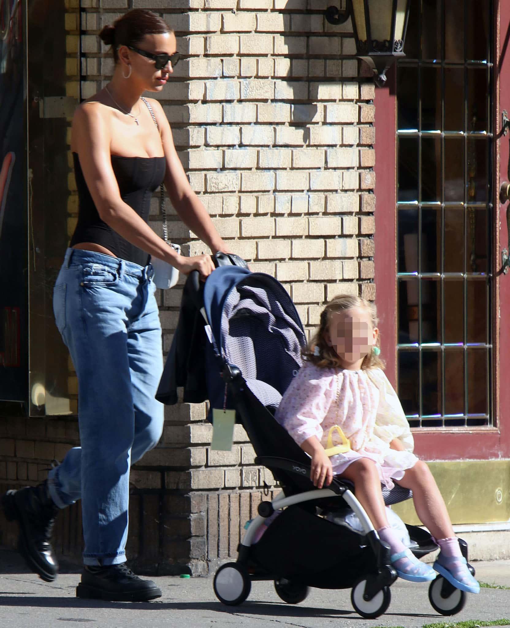Irina Shayk bonds with daughter Lea de Seine in Greenwich Village on June 16, 2021