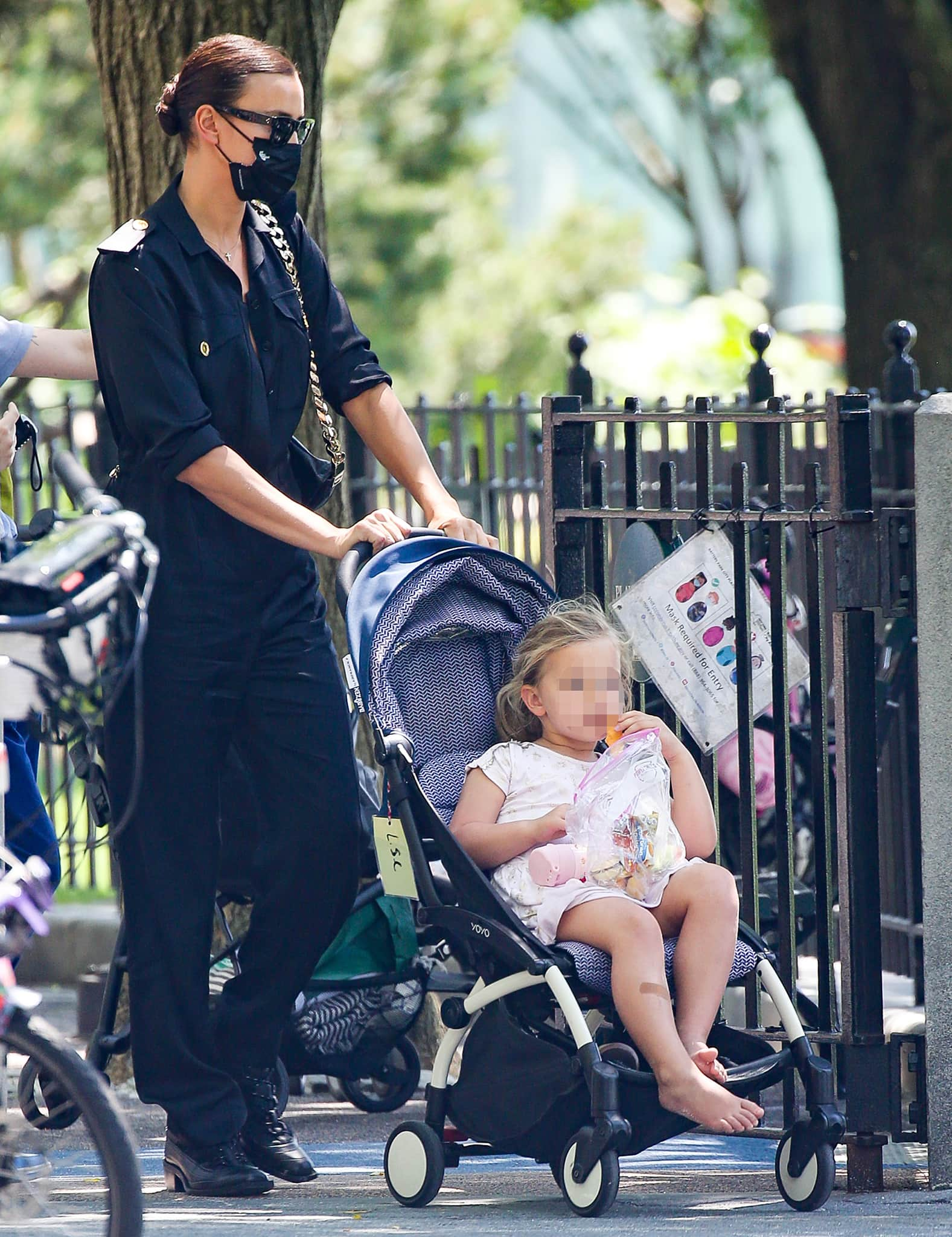 Irina Shayk takes daughter Lea de Seine to the playground after a French getaway with Kanye West