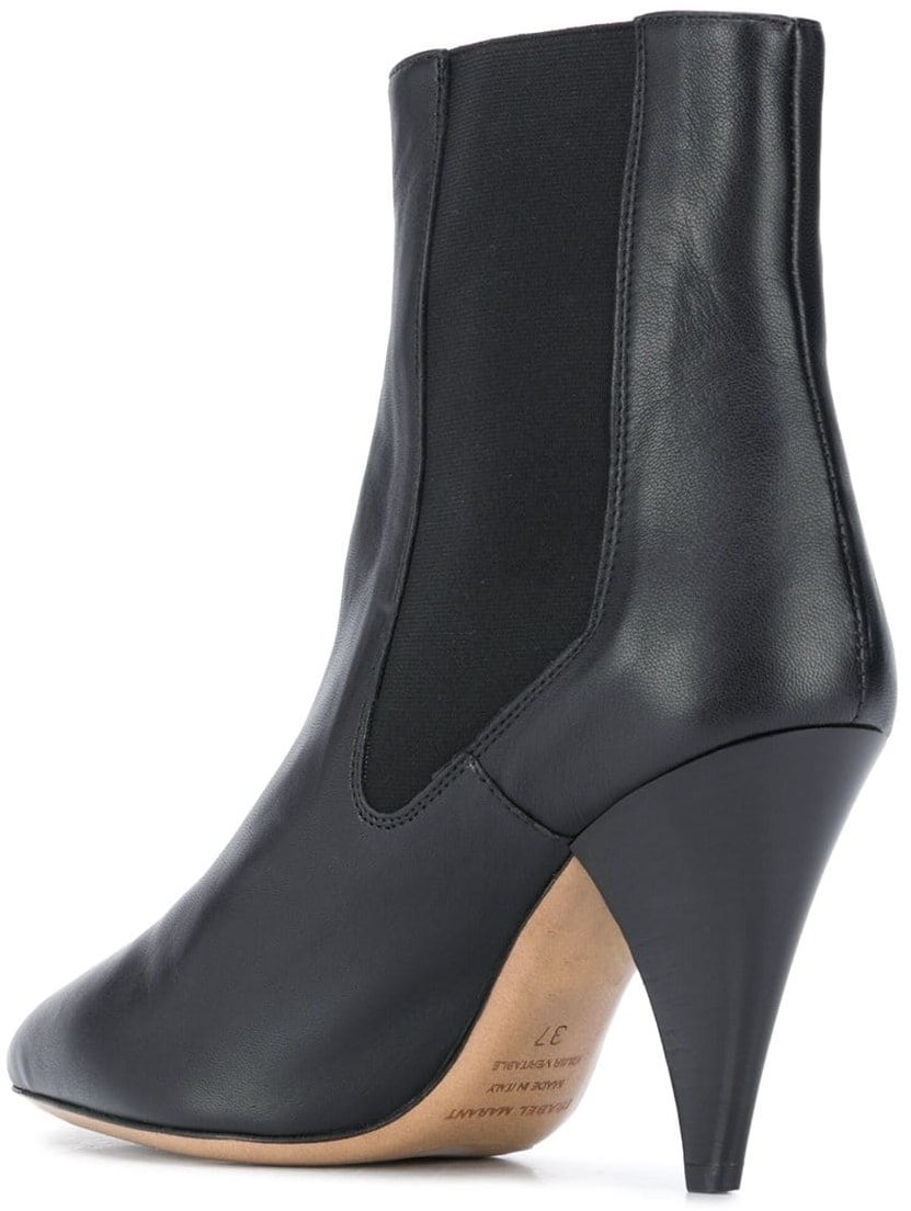 Black cone-heel boots from Isabel Marant