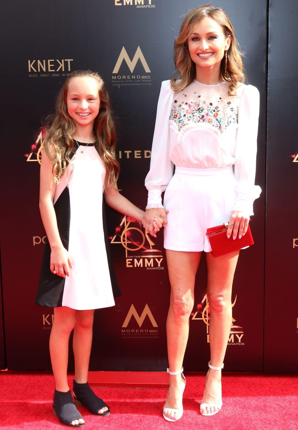 Jade Marie De Laurentiis Thompson and her mother Giada De Laurentiis at the 2019 Daytime Emmy Awards