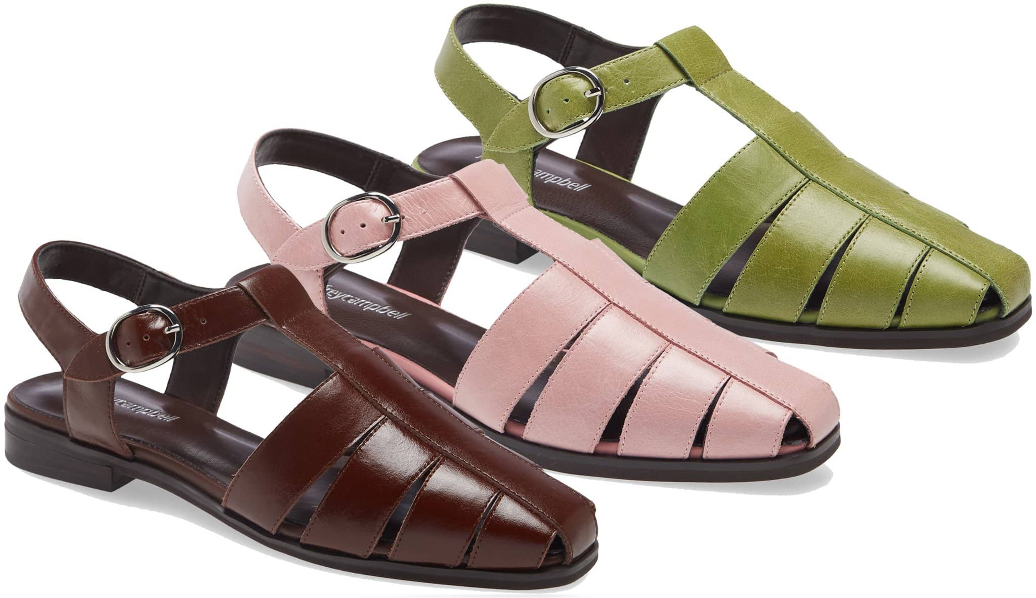 The Landen fisherman-style sandals from Jeffrey Campbell bring a retro-chic feel to any look
