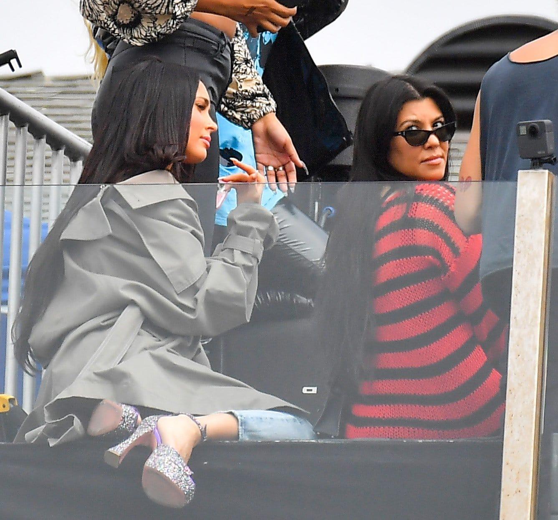 Kourtney Kardashian attends the rooftop concert to support her boyfriend Travis Barker