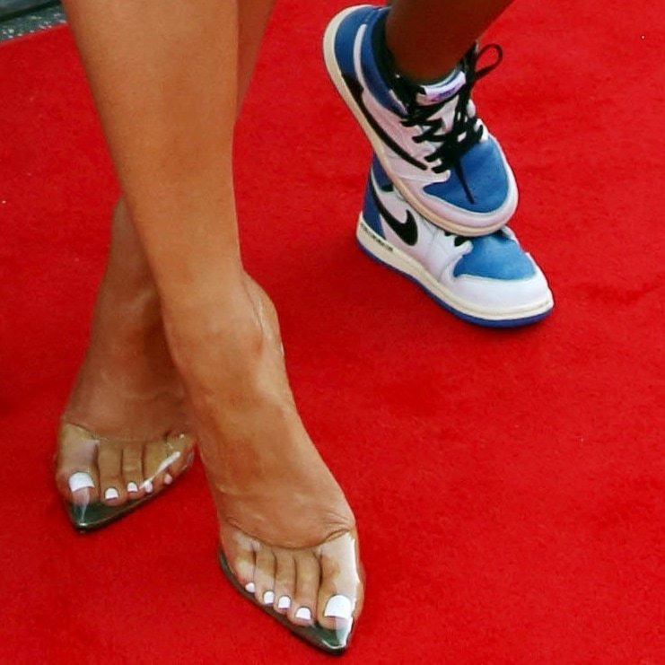 Kylie Jenner and Stormi Webster show off their shoes on the red carpet