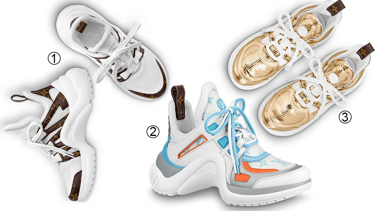 3 best chunky women's Louis Vuitton sneakers