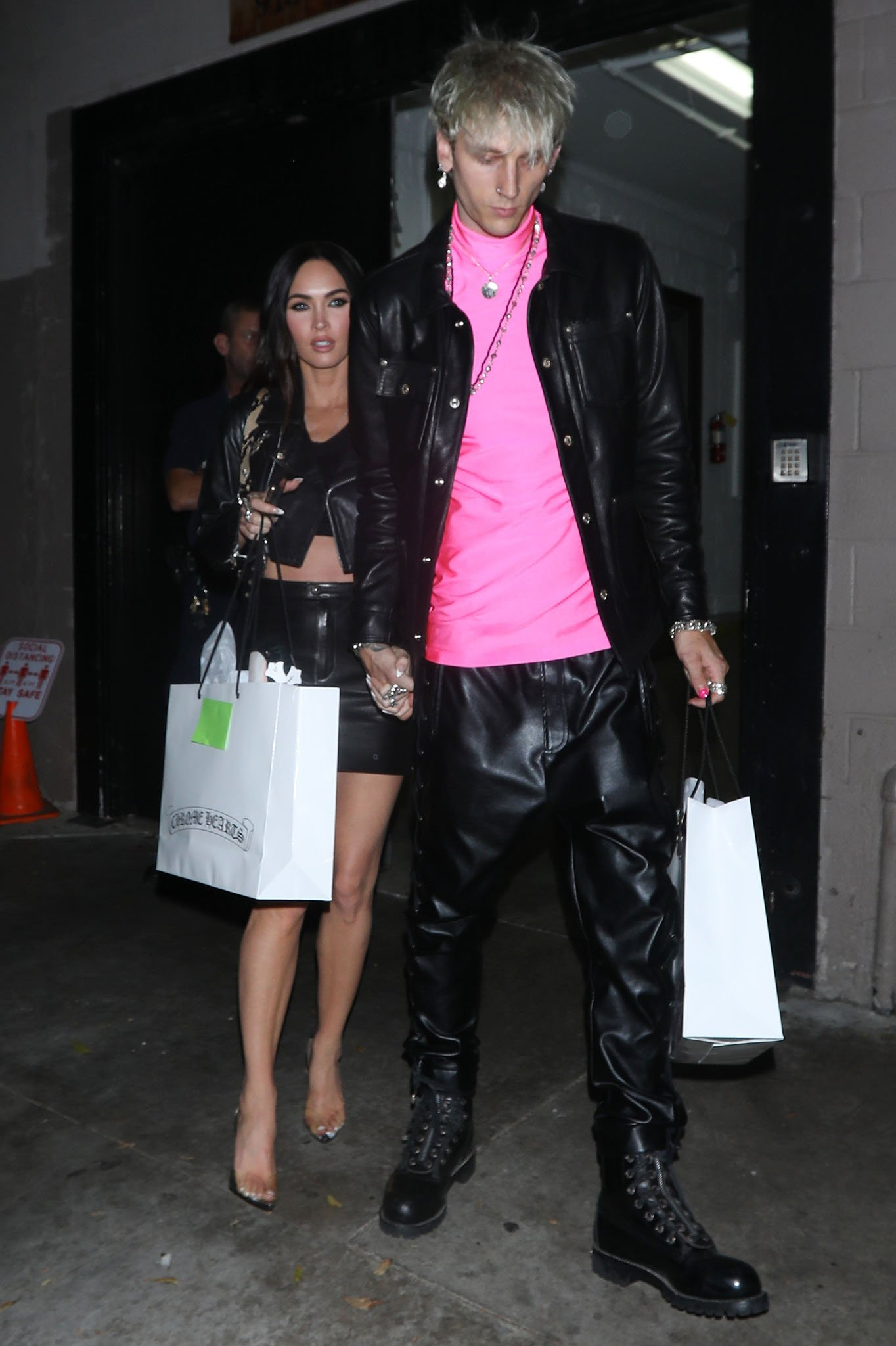 Megan Fox and Machine Gun Kelly leaving Chrome Hearts dinner party in Los Angeles on June 11, 2021