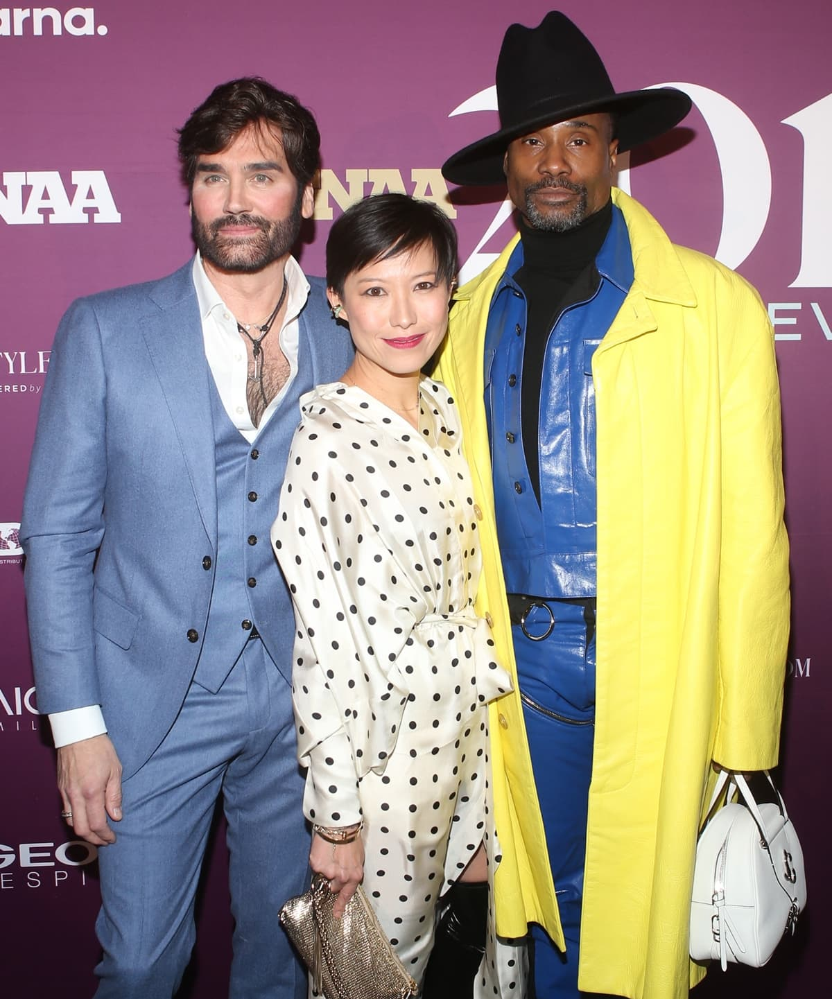 Michael Atmore, Sandra Choi, and Billy Porter attend the 2019 FN Achievement Awards