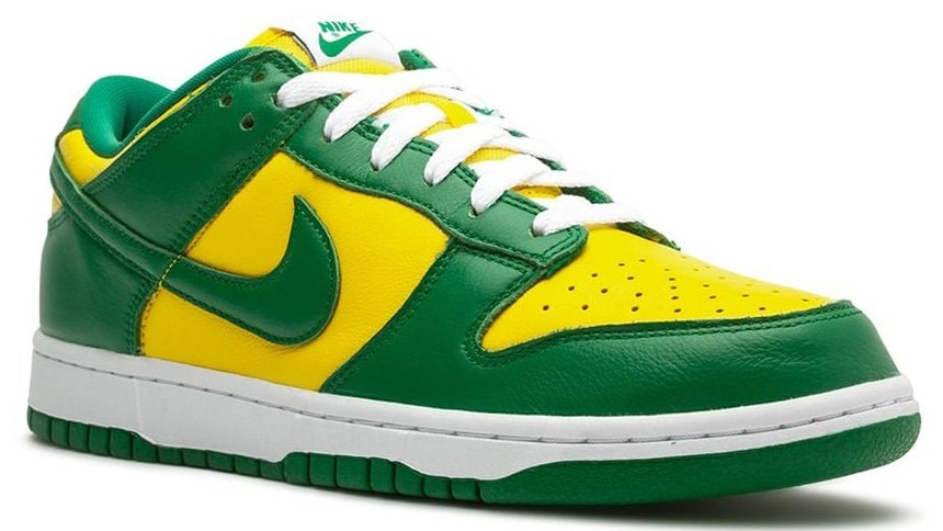 Nike pays homage to Brazil's flag with Nike Dunk Low Brazil shoes