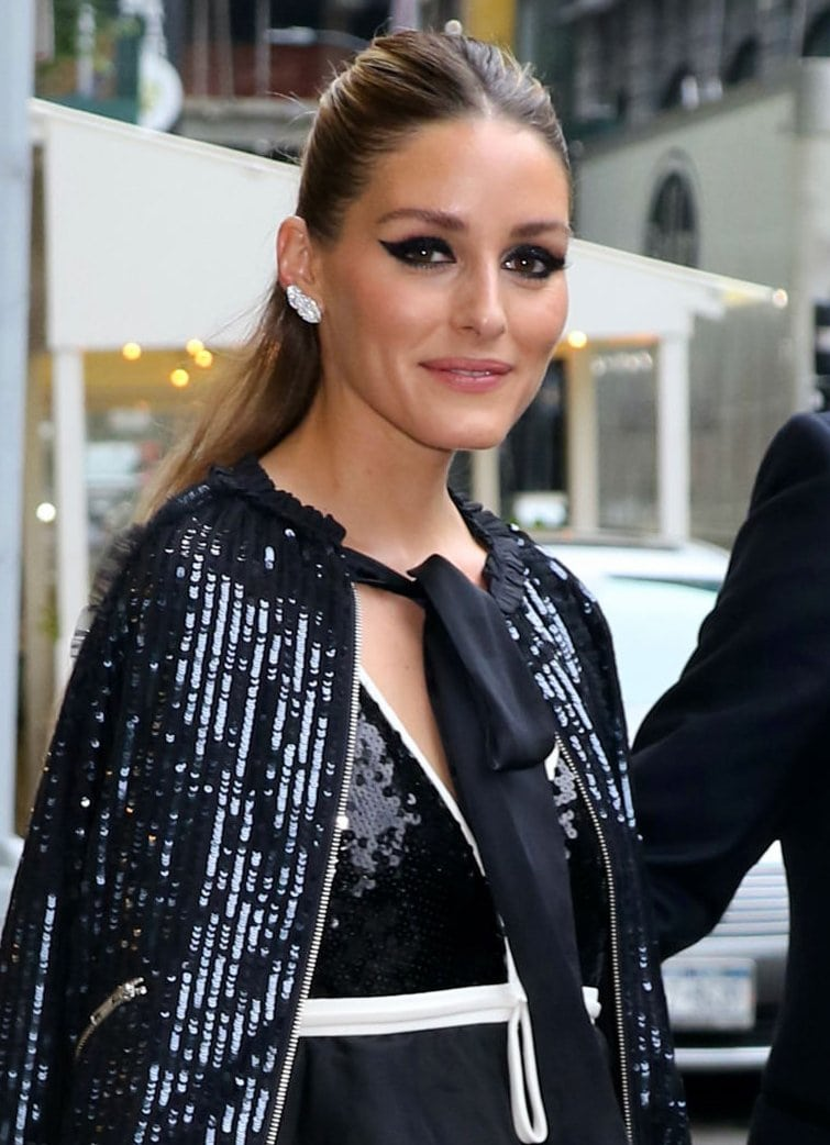 Olivia Palermo glams up her beauty look with makeup from her eponymous beauty line