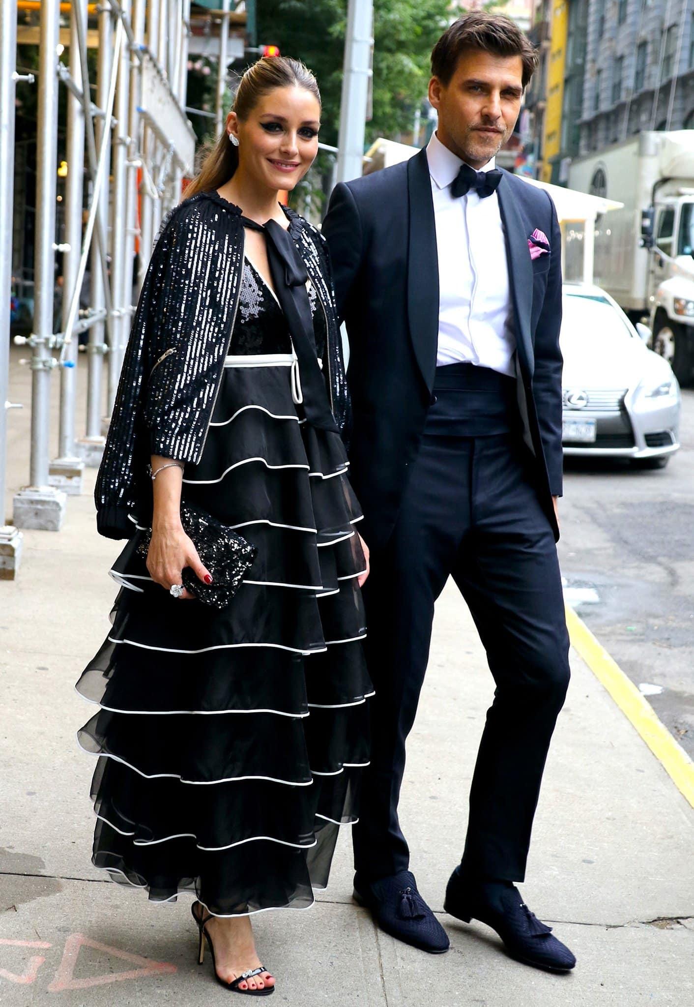Olivia Palermo and her husband Johannes Huebl head to New York Botanical Garden spring gala