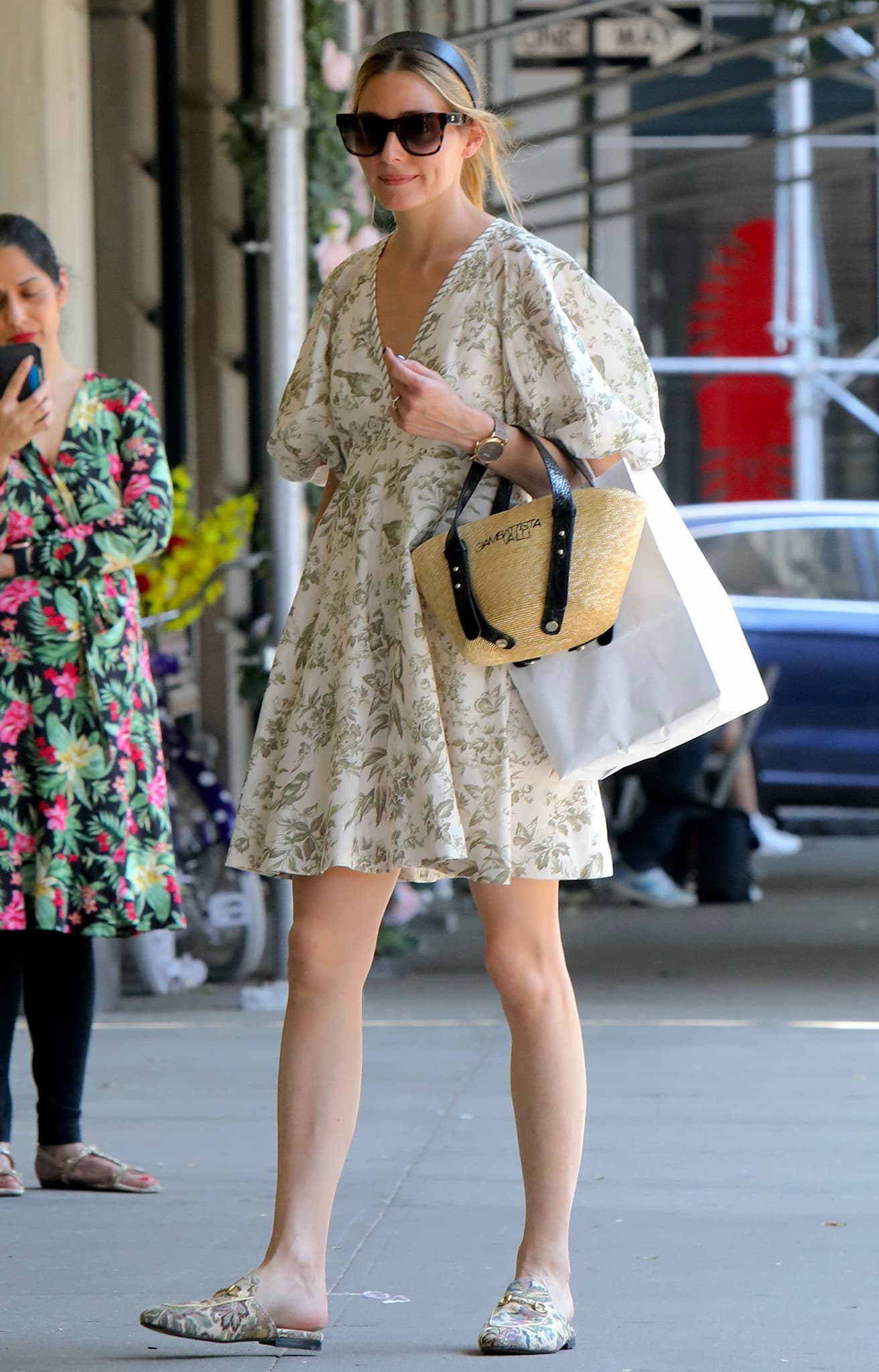 Olivia Palermo looks chic in mini dress and mules while running errands in Dumbo on May 28, 2021