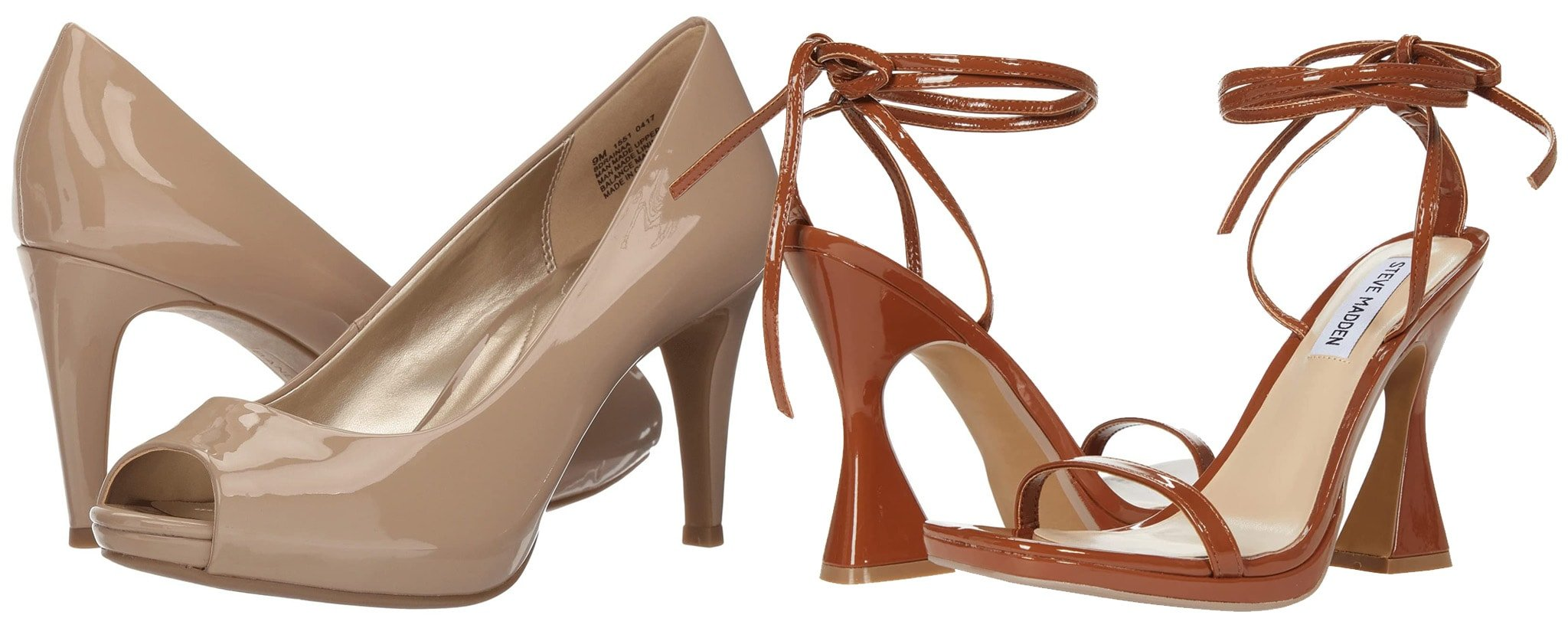 Polyurethane material looks similar to patent leather but easier to maintain and less expensive