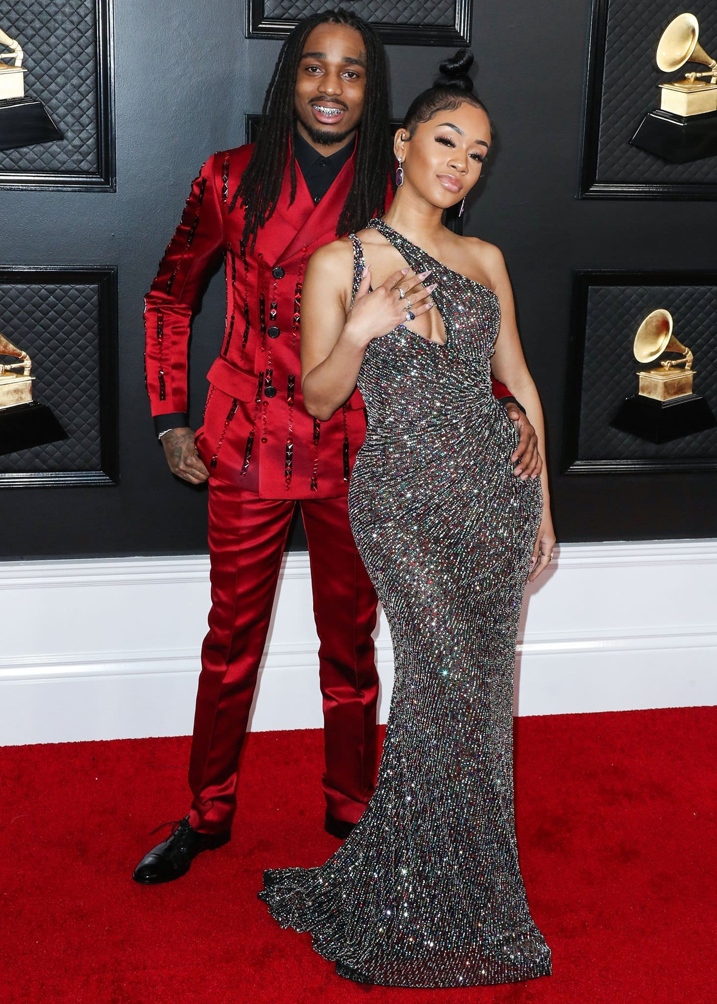 Quavo and Saweetie at the 62nd Annual Grammy Awards on January 26, 2020