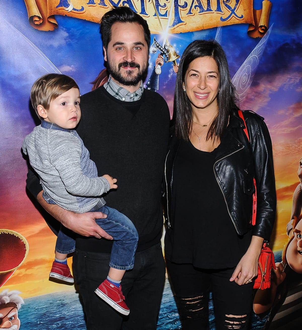 Rebecca Minkoff with her husband Gavin Bellour and her son Luca Shai attend