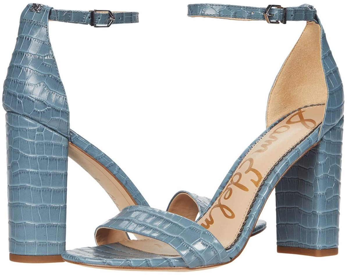 Sam Edelman's Yaro heeled sandal is a wardrobe must with an ankle strap and a block heel
