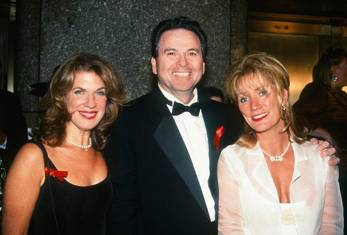Pictured with Wendy Riche and Shelley Curtis, Stuart Damon and passed away after struggling with renal failure