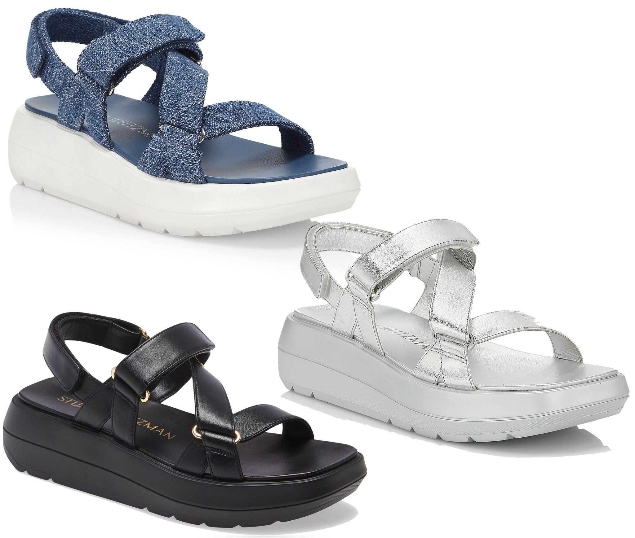 Add a touch of sporty chic vibe to your look with these strappy chunky platform sandals