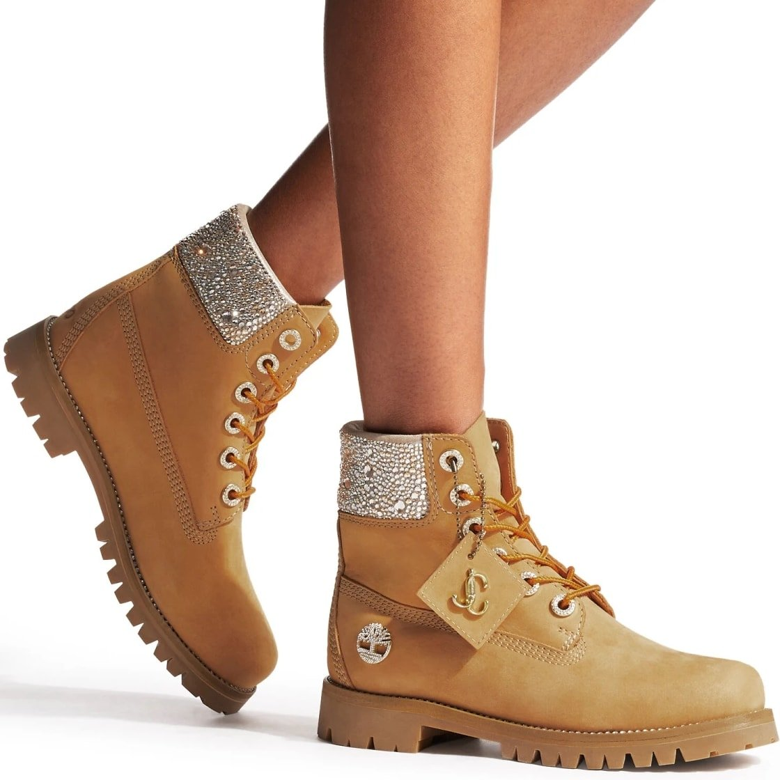 The Jimmy Choo x Timberland collaboration fuses the rugged appeal of Timberland with the inherent glamour of Jimmy Choo