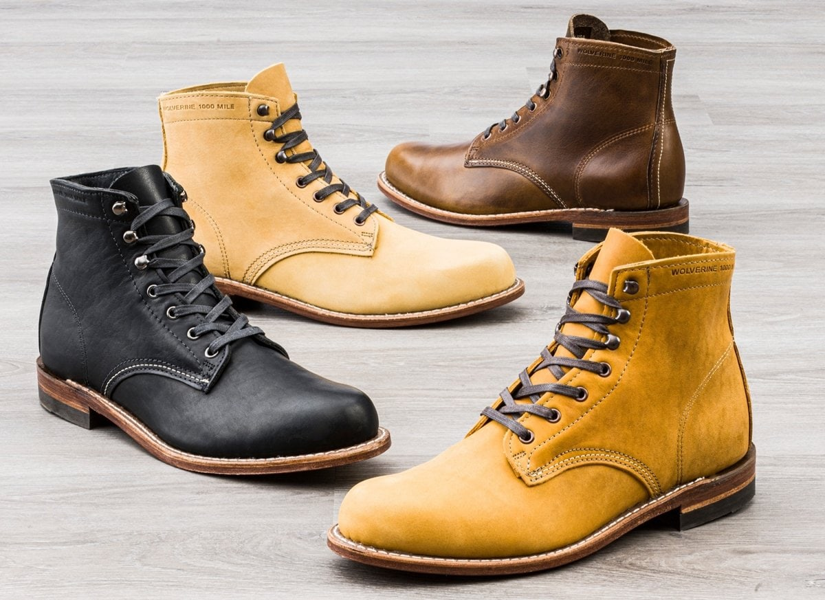 These Wolverine 1000 Mile boots are handcrafted in the USA