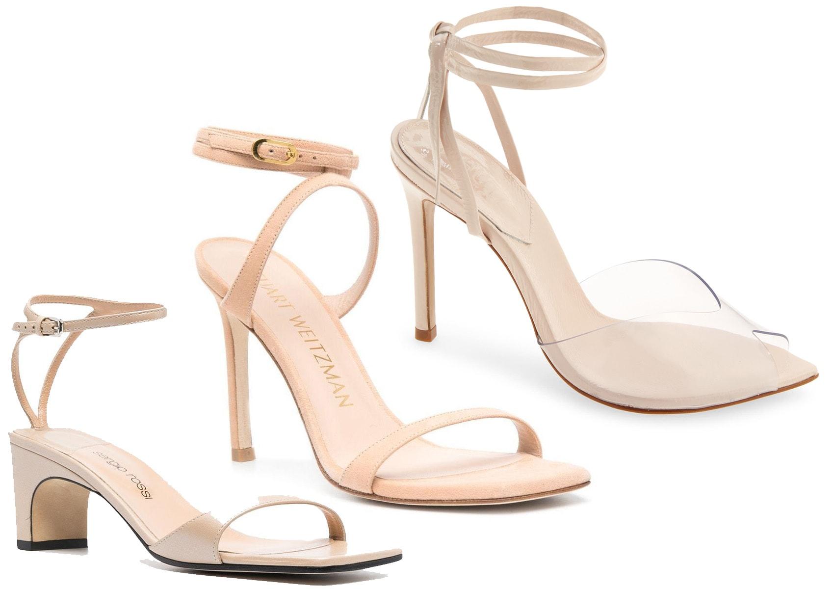 Sergio Rossi Ankle-Strap Sandal, Stuart Weitzman Ellsie Strappy Sandal, Schutz Desta Sandal