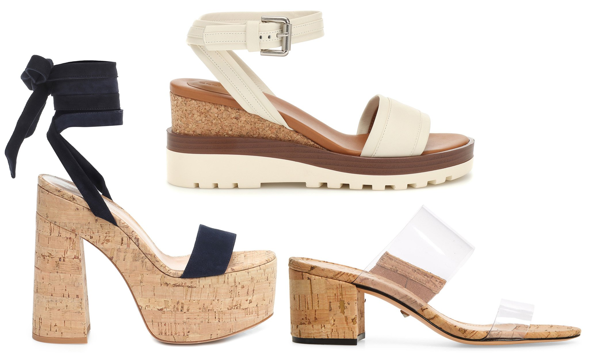 Cork heels are lightweight yet durable and chic, especially during summer