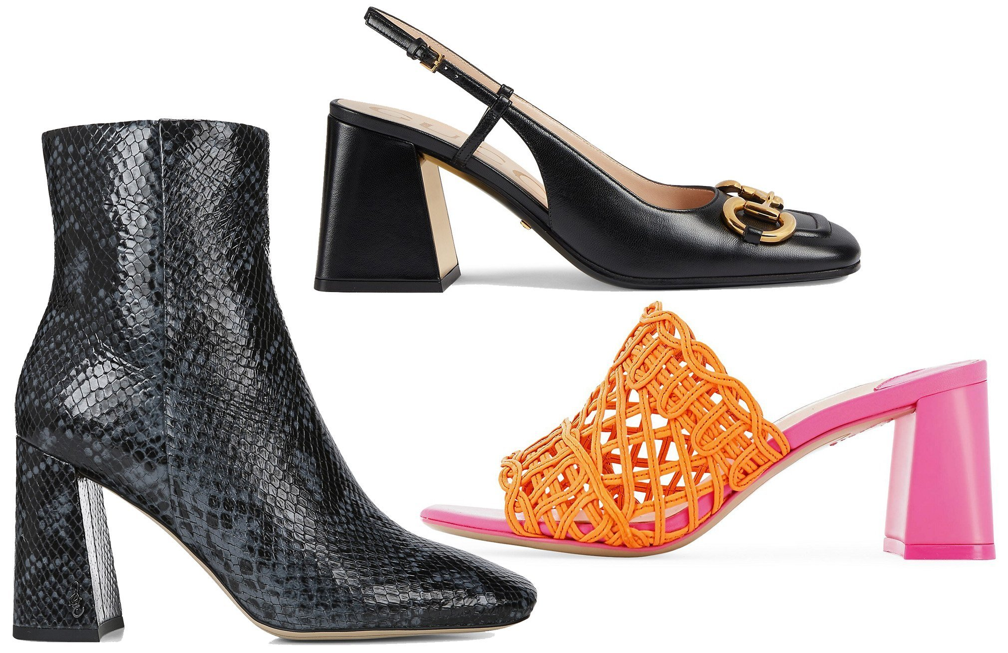 Similar to block heels, flare heels are comfortable but have a more feminine and retro look
