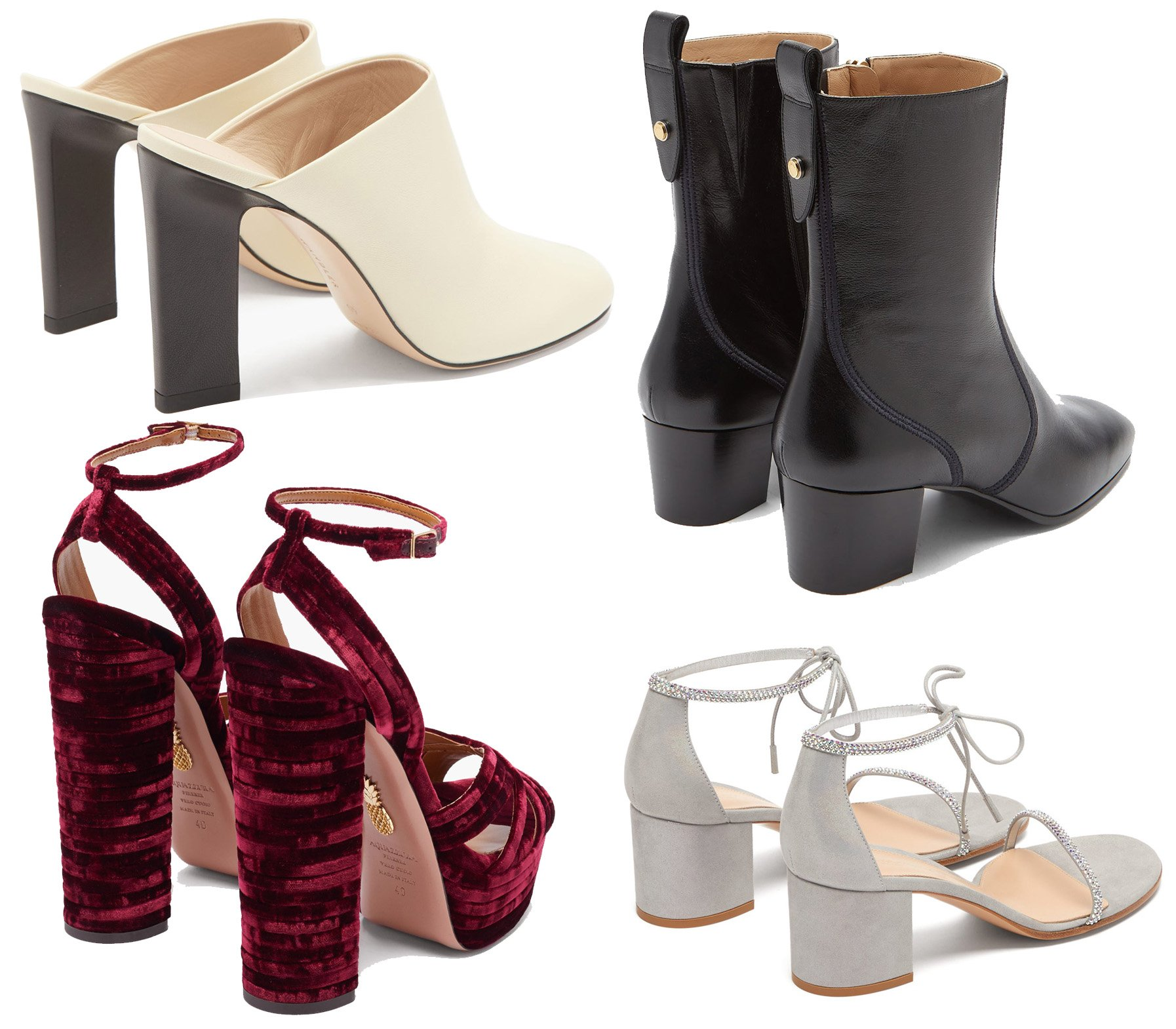 Thick block heels provide comfort, support, and more even distribution of weight throughout the feet